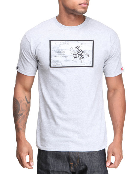 Crooks & Castles - Men Grey The Jailbird T-Shirt - $19.99