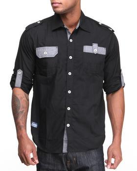 Akademiks - Quinton Roll up L/S Button down shirt