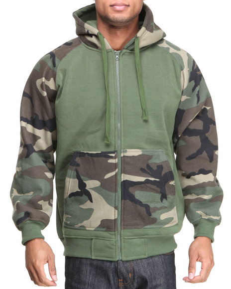 Ur-ID 222857 Basic Essentials - Men Camo Camo Hoodie