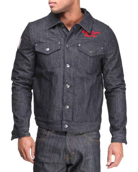 Protocol - Men Raw Wash Bright Lights Denim Jacket