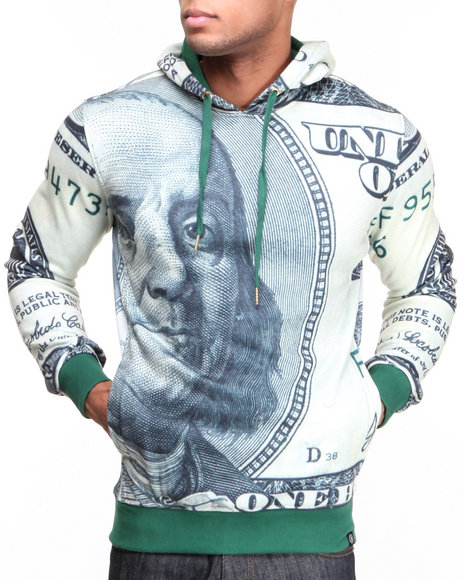 Hudson NYC Green Big Face Pullover Hoodie
