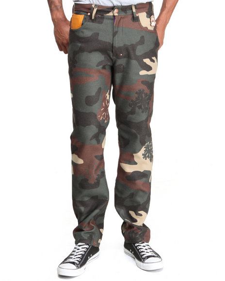 Akoo - Men Camo Flint Wool Jeans