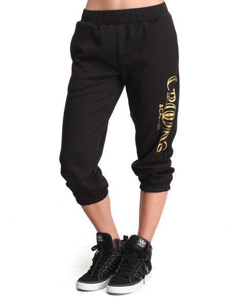 Crooks & Castles - Women Black Ballin' Mane Knit Sweatpant