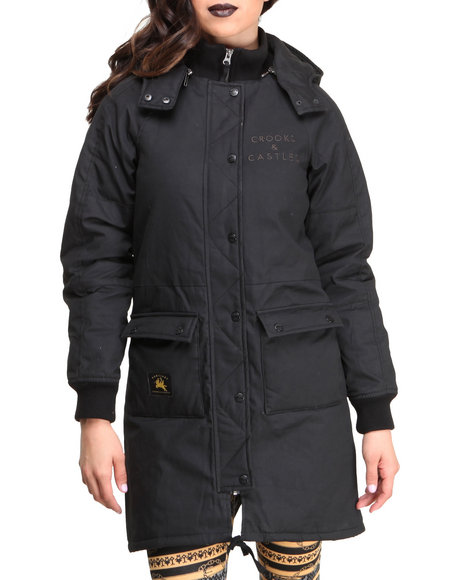 Crooks & Castles Black Burglary Woven Parka