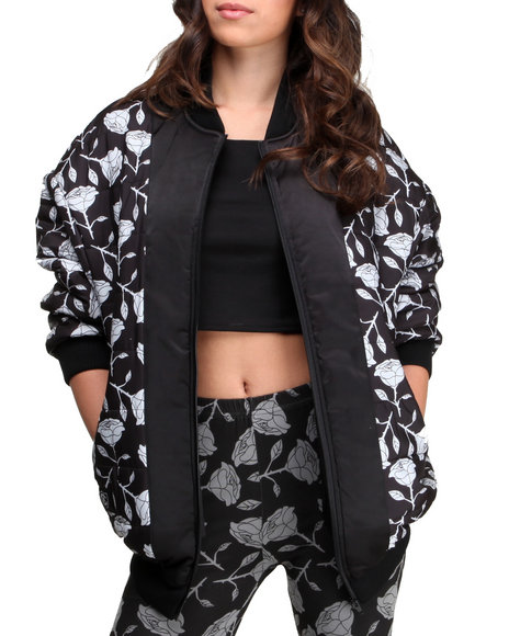 Crooks & Castles - Black Roses Bomber jacket