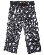 Bottoms - LEOPARD PRINT CARGO PANTS (2T-4T)