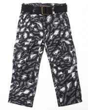 Sizes 4-7x - Kids - LEOPARD PRINT CARGO PANTS (4-7)