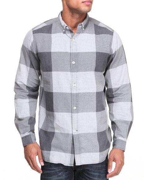 Rocawear Black Checkmate L/S Button-Down