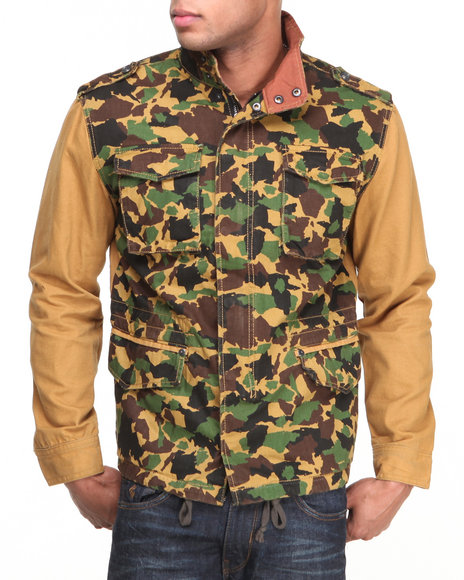 Rocawear - Men Camo Roc Battalion Jacket