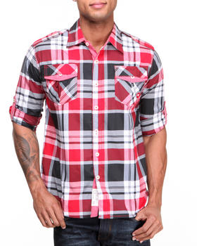 Akademiks - Hannibal Plaid L/S Button Down Shirt