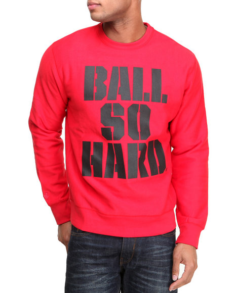 Rocawear Red Ball So Hard Crewneck Sweatshirt