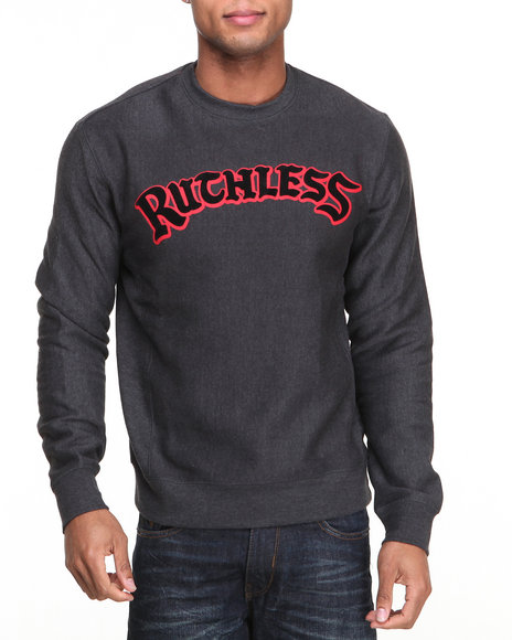 Rocawear - Men Black Ruthless Crew Sweatshirt