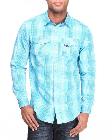Rocawear Blue Button-Downs