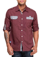 Akademiks - Quinton Roll up L/S Button down shirt