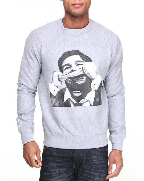 Rocawear Grey Politics As Usual Crewneck Sweatshirt