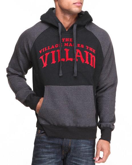 Rocawear - Men Black Villain L/S Popover Hoodie