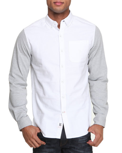 Rocawear White Trey L/S Button-Down