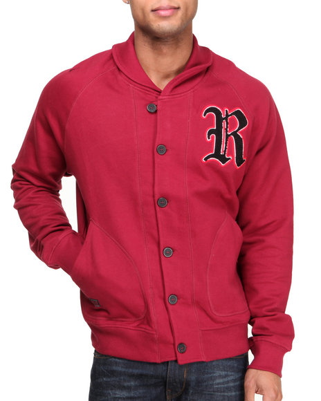Rocawear - Men Red Crenshaw Cardigan