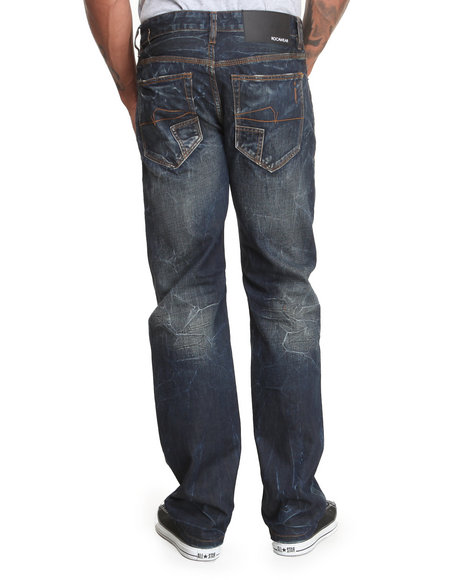 Rocawear - Men Dark Wash The Watts Classic Fit Jeans