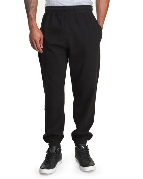 Rocawear - Men Black Solid Streets Sweatpants