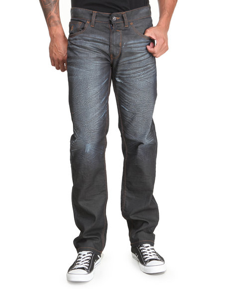 Rocawear - Men Raw Wash Volume Straight Fit Jeans