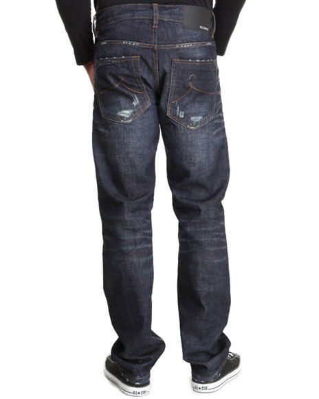 Rocawear Dark Wash Volume Straight Fit Jeans