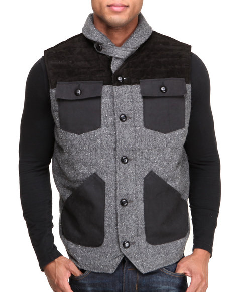 BLVCK SCVLE Black Recondo 4-Pocket Quilted Vest