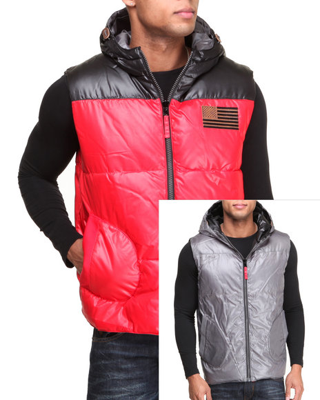 Rocawear Red Rugged Reversible Vest