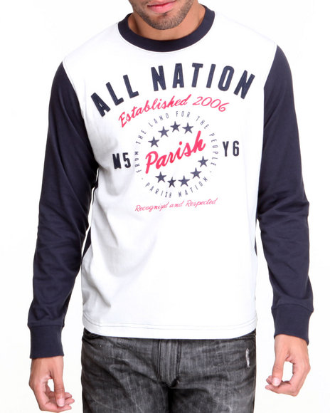 Parish Navy All Nation Tee