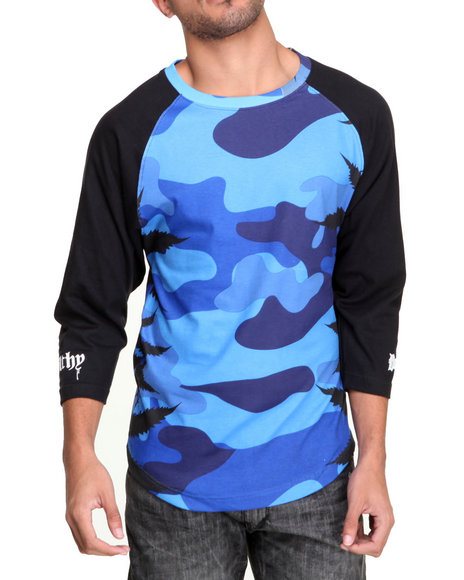 Filthy Dripped Camo Camo Leaves Raglan