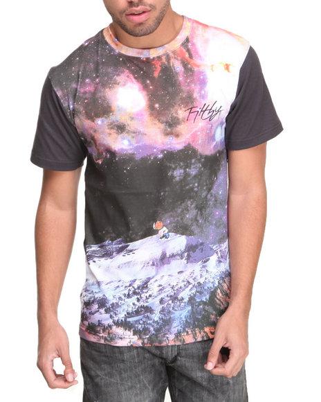 Filthy Dripped Black Snow Galaxy T-Shirt