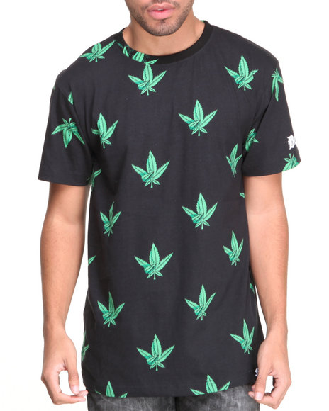 Filthy Dripped Black Westside Weed Leaf T-Shirt