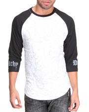 Men - Crackle Print Raglan