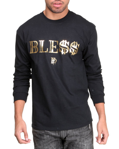 Filthy Dripped Black Ble$$ Foil L/S T-Shirt