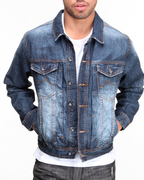 Rocawear Medium Wash Volume Denim Jacket