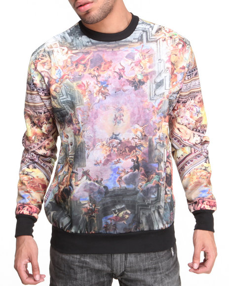 Buyers Picks - Men Multi Chapel Sublimation Crewneck Sweatshirt - $44.99