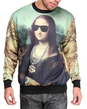 Men - Chillin Mona Sublimation Crewneck Sublimation sweatshirt