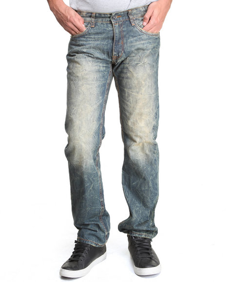Rocawear - Men Indigo Rust Straight Fit Jeans