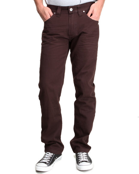 A Tiziano Brown Riley Straight Fit Denim Jeans