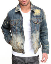 Men - Rust Denim Jacket