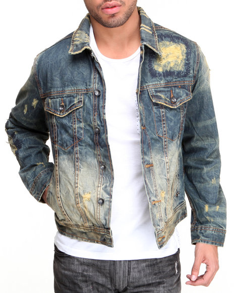 Rocawear - Men Indigo Rust Denim Jacket