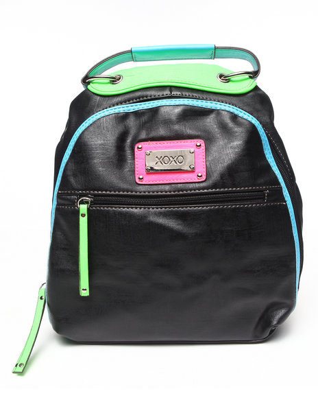 Xoxo Women On Board Neon Trim Backpack Black