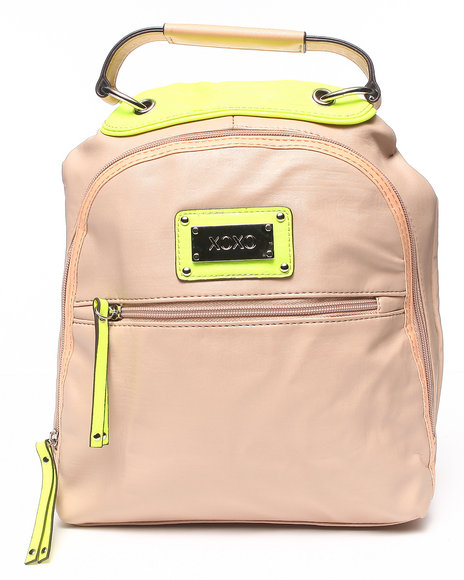 Xoxo Women On Board Neon Trim Back Pack Tan