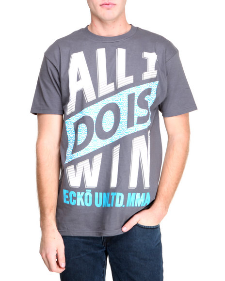 Ecko Grey I Win T-Shirt