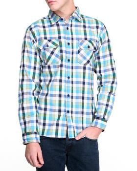 Buyers Picks - Multi Check L/S button down shirt