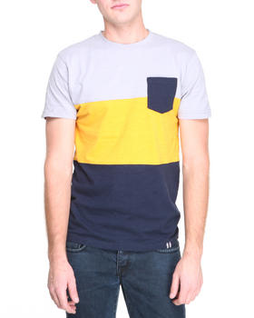 Bellfield - Cut & Sew Contrast Colour T-Shirt