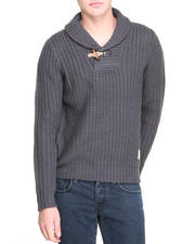 Bellfield - Fisherman's Shawl Neck Sweater