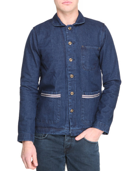 Bellfield - Men Blue Blanket Lined Worker Jacket