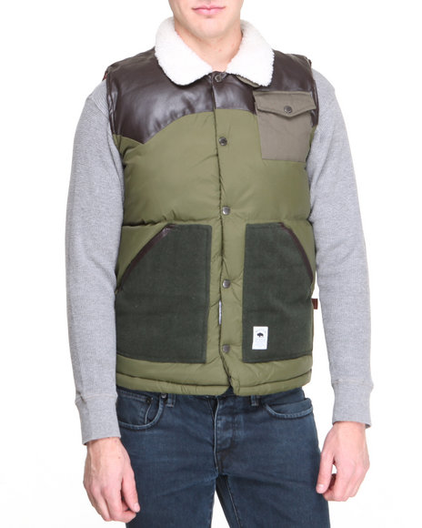Bellfield - Men Green Padded Gilet Vest