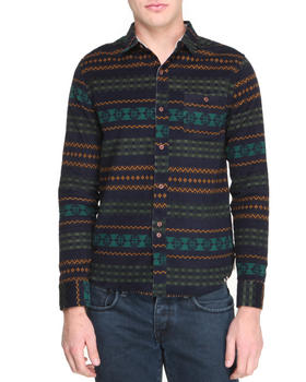 Bellfield - Printed Corduroy Button-Down
